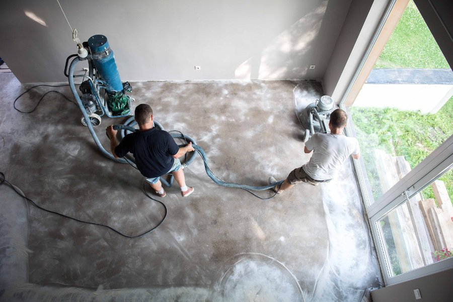 Polishing and Repairing Concrete Floor
